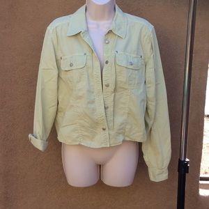 Liz Claiborne lime green buttonup jacket
